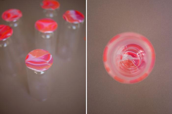 Отделка под мрамор стеклянной посуды