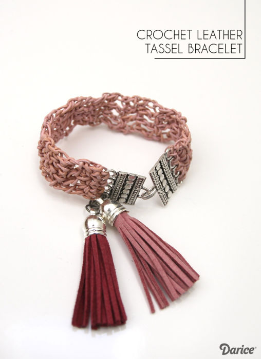 Leather-crochet-bracelet-Darice