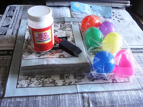 Декупаж яиц: нам понадобится