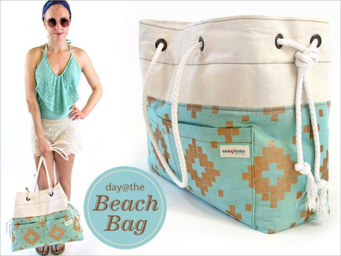 Как сделать сумку на пляж