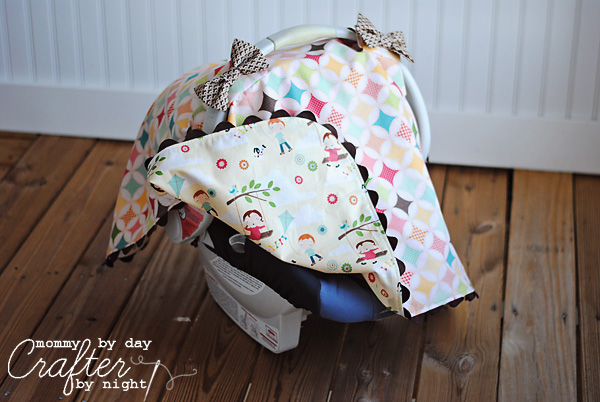 Tied with a Bow Carseat Canopy #5
