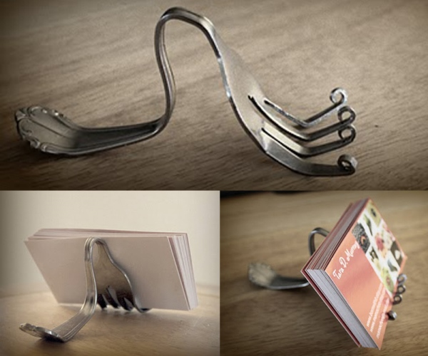 Fork-business-card-display