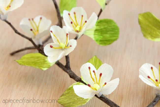 цветущая вишня из бумаги