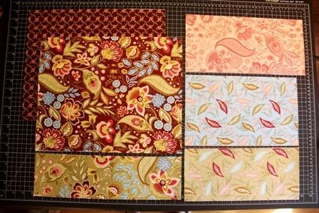 Примерка кусков ткани.