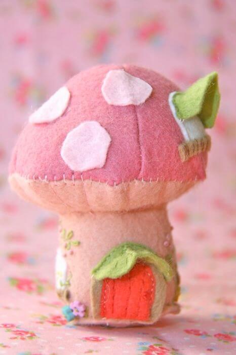 готовый розовый грибок