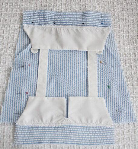 сшиваем с юбкой