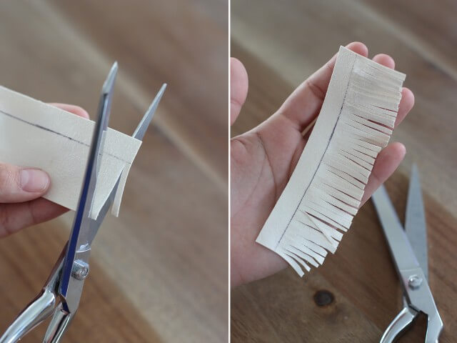 Разрезаем ткань на полоски