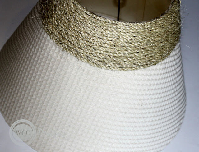 Обматываем абажур верёвкой