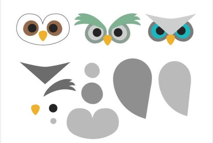 шаблон - совы из фетра