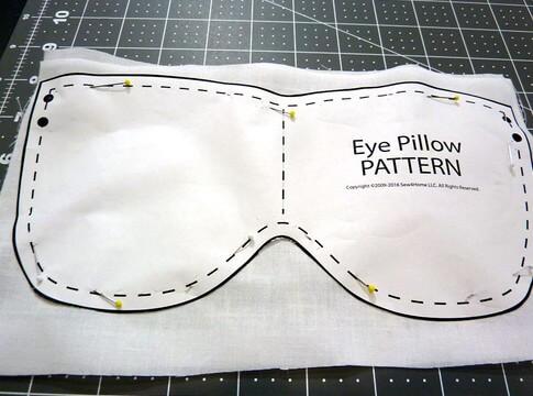 шаблон маски для сна