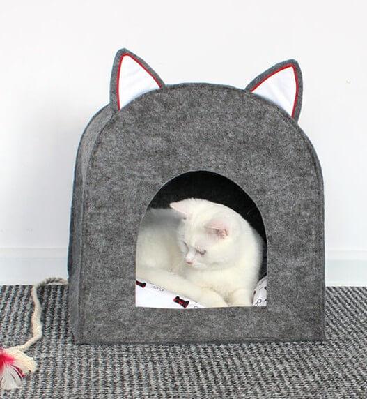 кошек домик своими руками шьем для