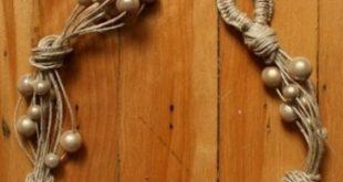 Ожерелье из жемчужных бусин на шнурке