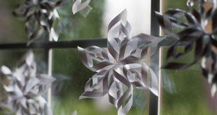 3D (объёмные) снежинки из бумаги