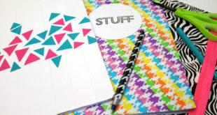 Как легко обернуть и декорировать тетради и учебники