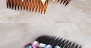 Гребни для волос, украшенные драгоценными камнями