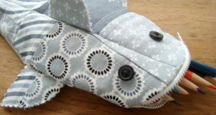 Пенал-акула для карандашей