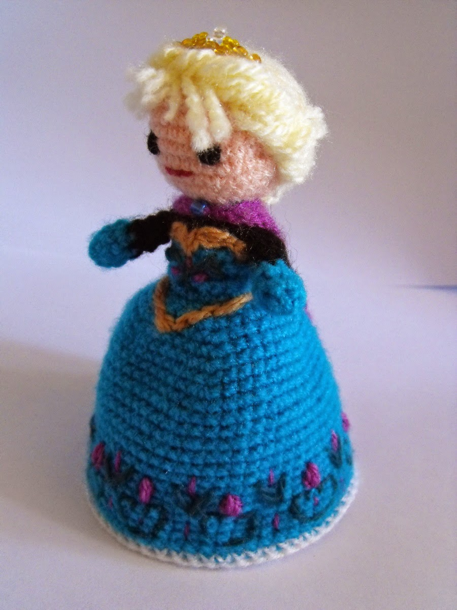 Вязаная кукла-перевёртыш Эльза «Холодное сердце»
