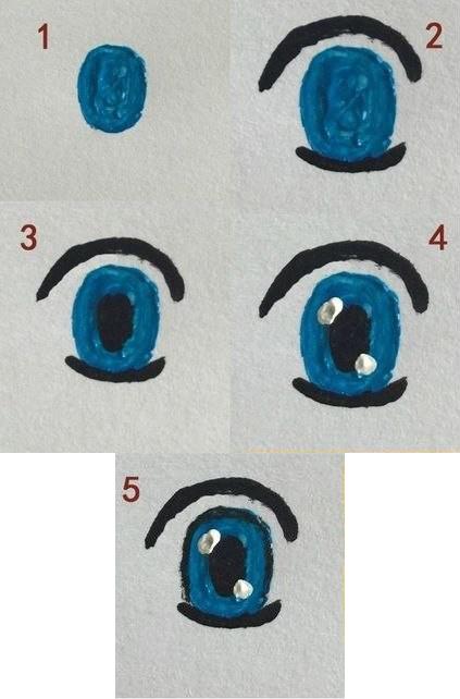 Как рисовать глаза кукле