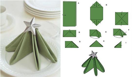 Ёлка из бумажной салфетки