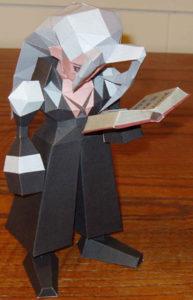 Бумажная модель - игрушка-складушка - Final Fantasy VII - Sephiroth