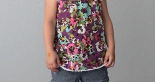 Детское платье или топ с рукавами фонарики