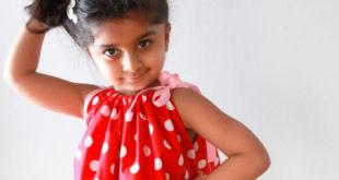 Простое платье-сарафан для девочки