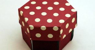Как сделать коробочку с секретом из бумаги  для подарка