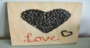 Картина из камней «Сердце» ко Дню Св. Валентина