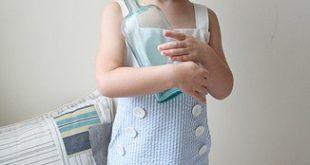Мастер – класс по пошиву платья для девочки, в матросском стиле