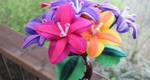 Цветы Страны Оз из фетра своими руками