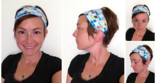 Повязка на голову из тканевой обложки для книг
