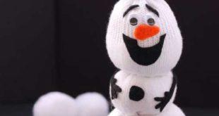 Снеговик Олаф из носка мастер класс