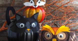 Кототыква! Или чёрная кошка из тыквы — милый декор для Хэллоуина своими руками