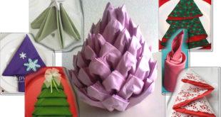 Праздничная сервировка стола — как сложить салфетку по-новогоднему